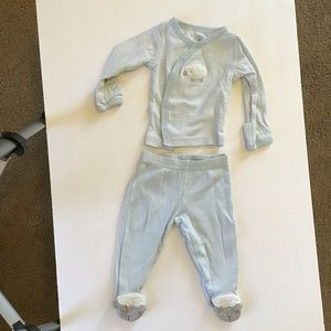 Carters 2pc blue long sleeve sheep baby boy pajama